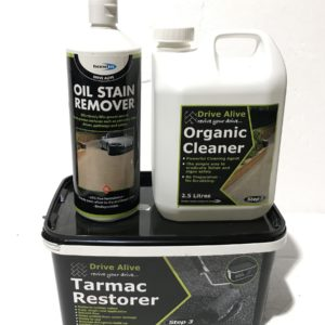 Tarmac Drive way Path Paving Colour Restorer & Cleaners 1 2 3 Kit Revival