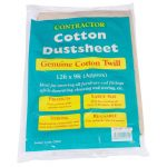 Bond It HEAVY DUTY DUST SHEETS - COTTON TWILL 1.4Kg Cream 12' X 9ft