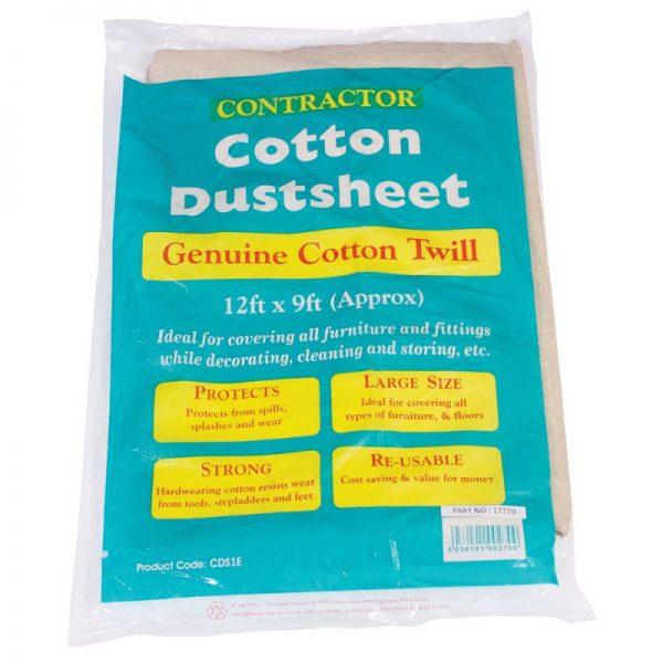 Bond It HEAVY DUTY DUST SHEETS - COTTON TWILL 1.4Kg Cream 12' X 9ft