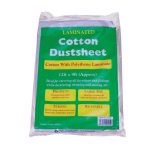 Bond It COTTON TWILL DUST SHEET - LAMINATED Cream 12' X 9ft