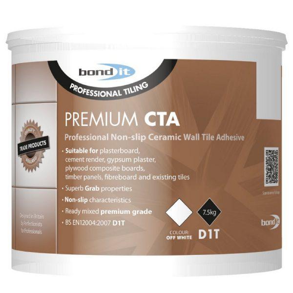 Bond It PREMIUM CTA TILE ADHESIVE Professional Non-Slip Tile Adhesive Off White 7.5Kg