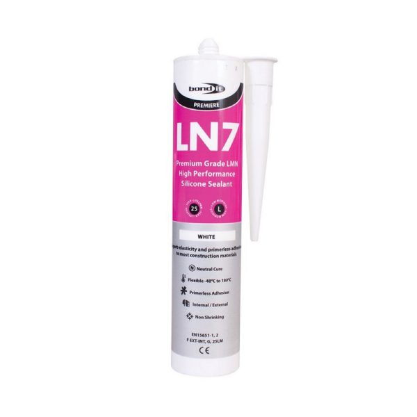 Bond It Premium Grade LN7 LMN SILICONE 310ml.white