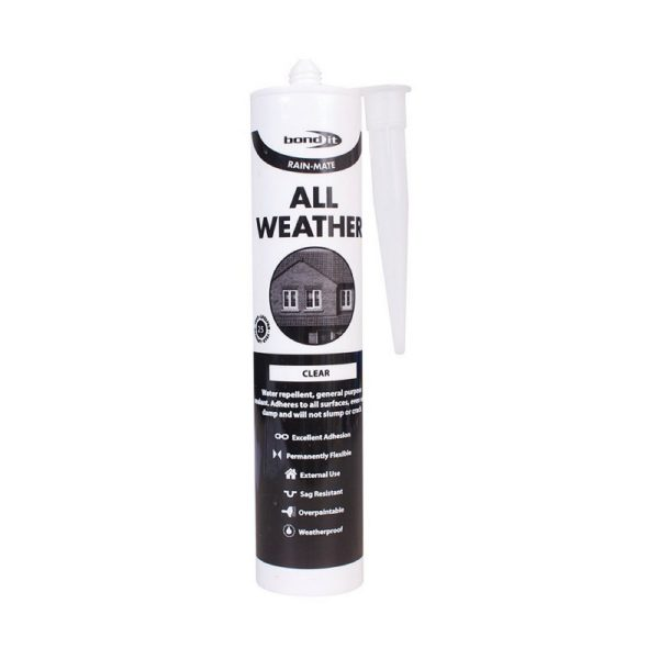 All Weather Sealant Rain Mate Roofing Tiles Slates Flat Pitched Glass Car Works Even In Rain Clear