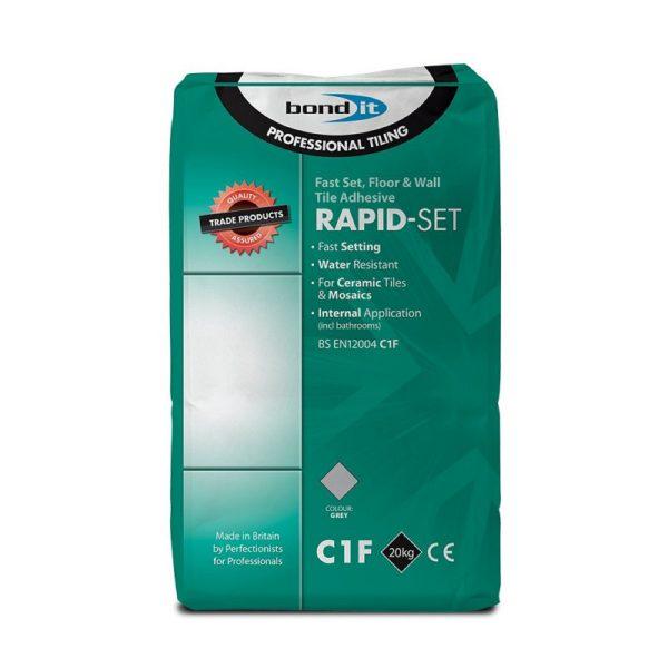 Bond It RAPID-SET Cement based Ceramic Tile Adhesive Grey 20Kg