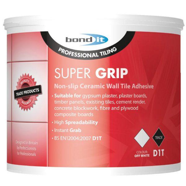 Bond It SUPER-GRIP Ready Mix Non Slip Tile Adhesive Off White Trade Pack
