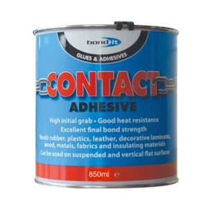 Contact Adhesive Glue Premium Grade High Grab Bonds Cork Tiles Lino Metal Plastics Formica 850ml