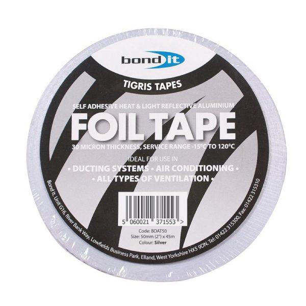Aluminium Foil Tape Silver Ducting Ventilation Fans Ducts Heat Light Reflective 50mm x 45m Roll