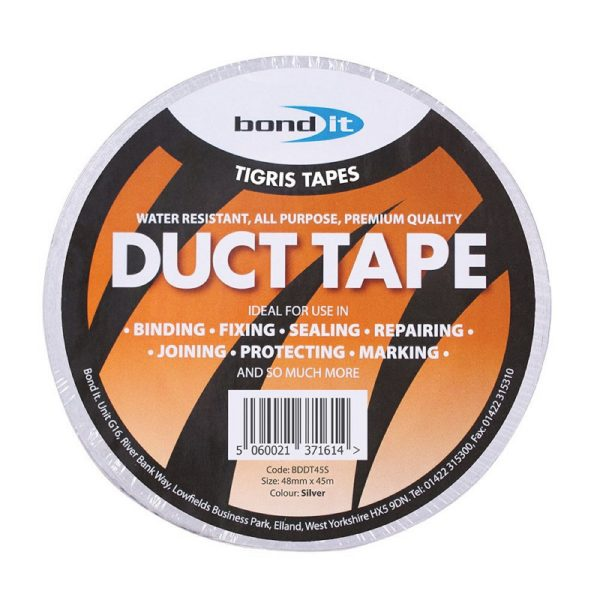 Duct Tape Silver Water Resistant All Purpose Fix Repair Seal Protect 45m x 48mm