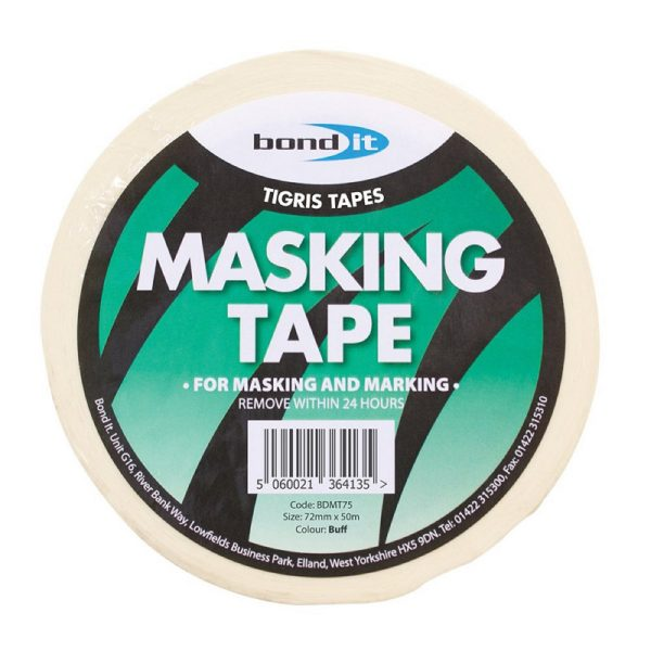 Bond It MASKING TAPE - 50m long Buff 75mm