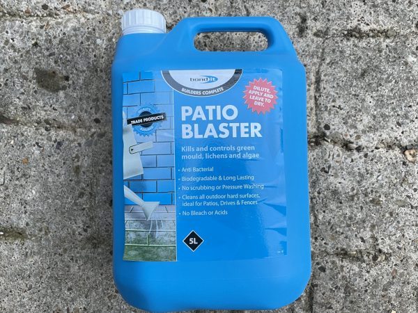 Patio Blaster Concentrated Hard Surface Disinfectant To Remove Green Mould Growth 5L