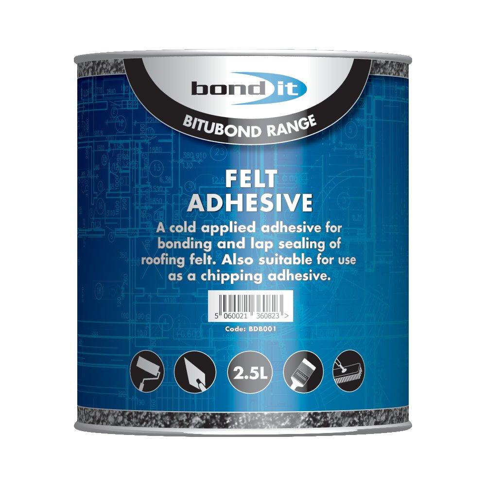Shed Garage Grit Felt Roof Adhesive DIY Home Repair Fix Cold Tar Bitumen Type Glue Apply & Job Done 2.5L