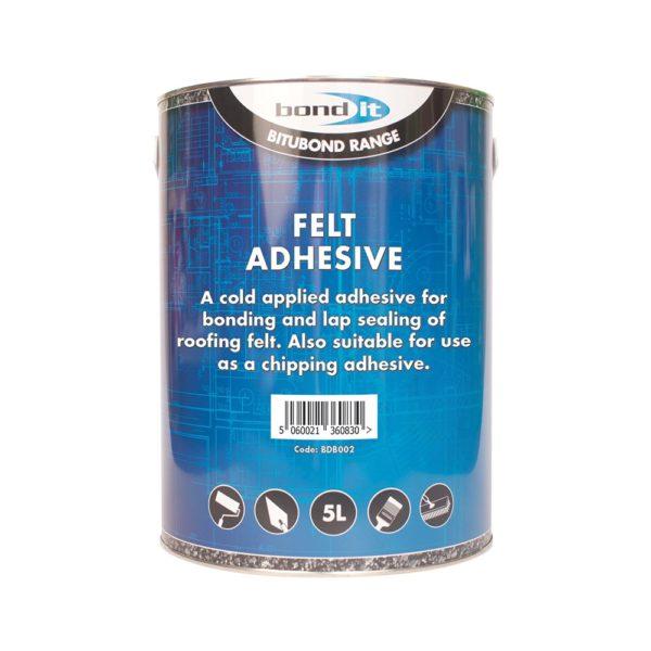 Shed Garage Grit Felt Roof Adhesive DIY Home Repair Fix Cold Tar Bitumen Type Glue Apply & Job Done 5L