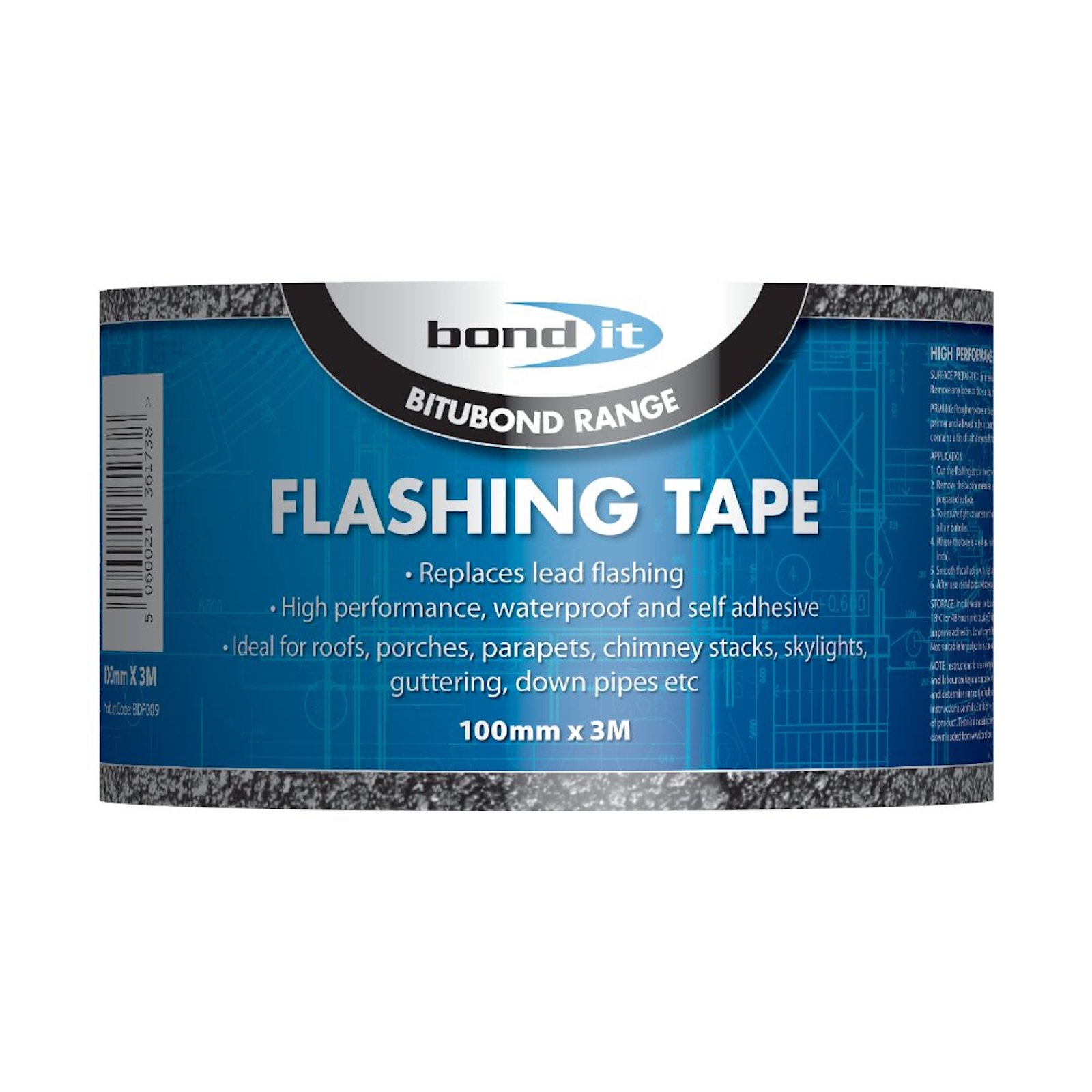 Flashing Flash Tape Roof Repair Seal It 100mm X 3M Including Tin of Primer