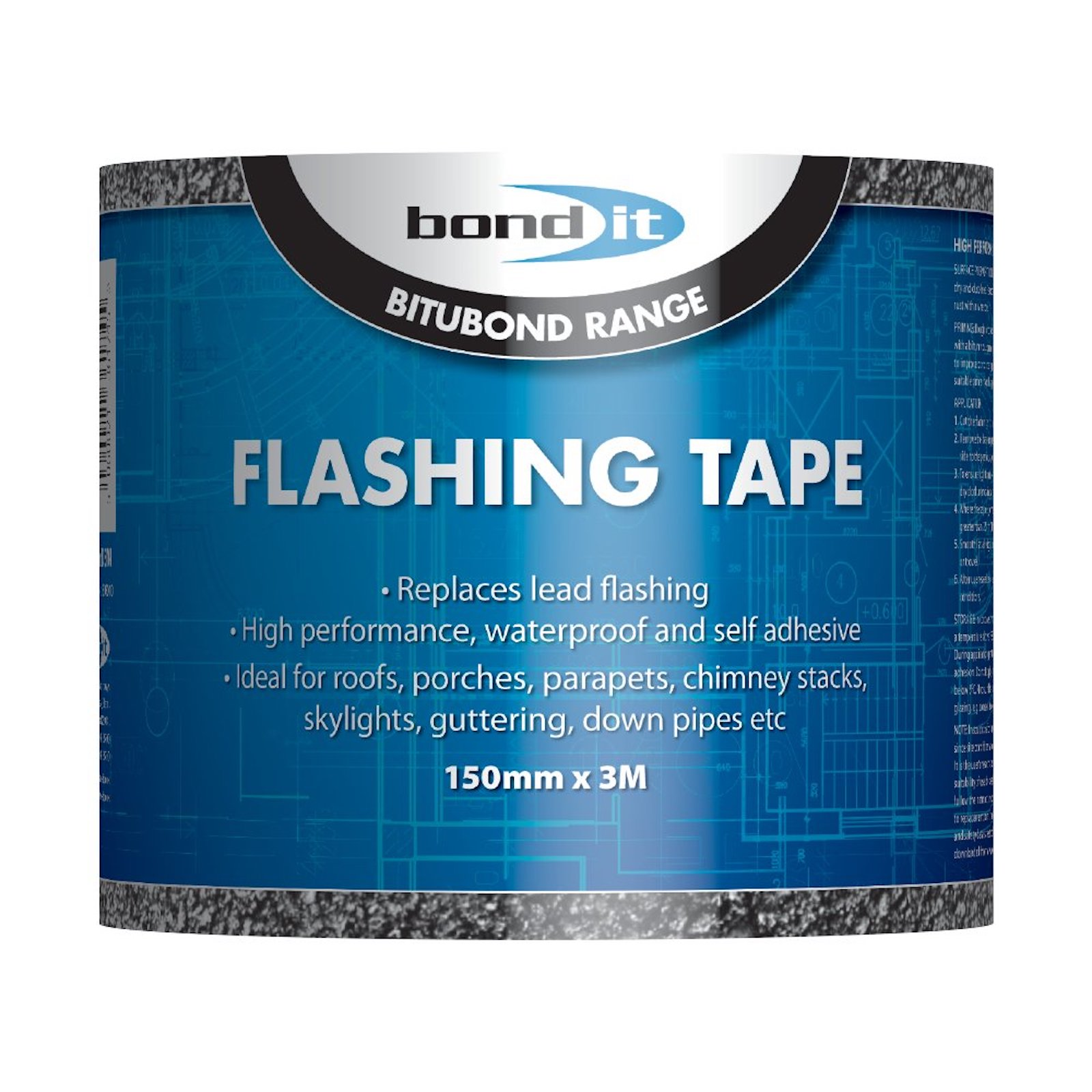 Flashing Flash Tape Roof Repair Seal It 150mm X 3M Including Tin of Primer