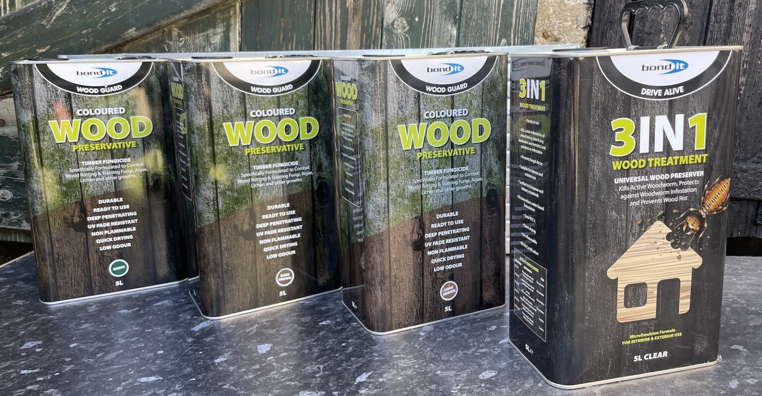 NEW Bond It Coloured Wood Preservative Treatments