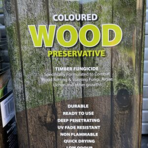 Dark Brown Wood Preservative Treatment 5L Treats Wood Worm Rot Fence Shed Timber