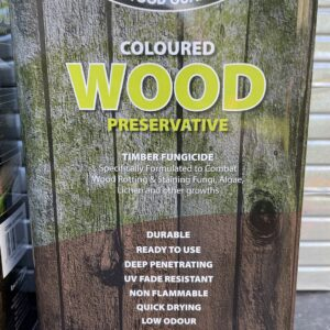 Light Brown Wood Preservative Treatment 5L Treats Wood Worm Rot Fence Shed Timber