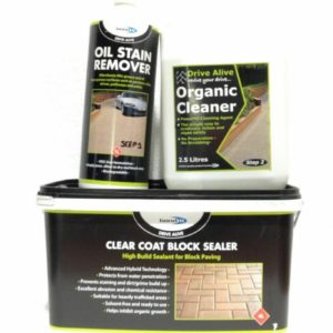 Bricks Blocks Clear Coat Sealer & Cleaner 1 2 3 Kit Revive Path Paving System