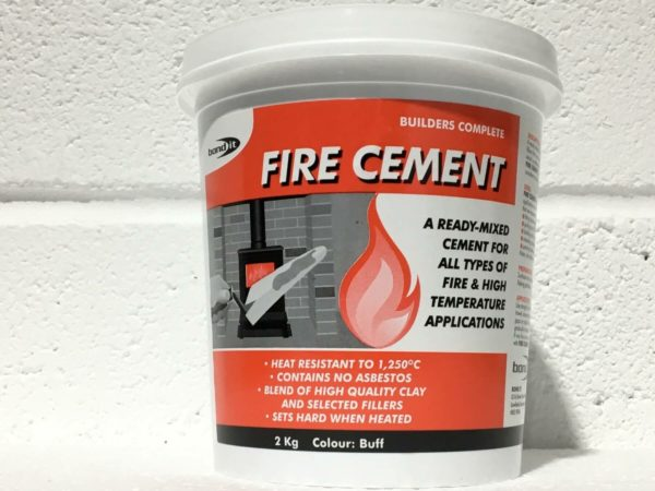Fire Cement Fire Place Fire Flame Proofing Stove Cooker Aga Flue Outlet Surround 2kg