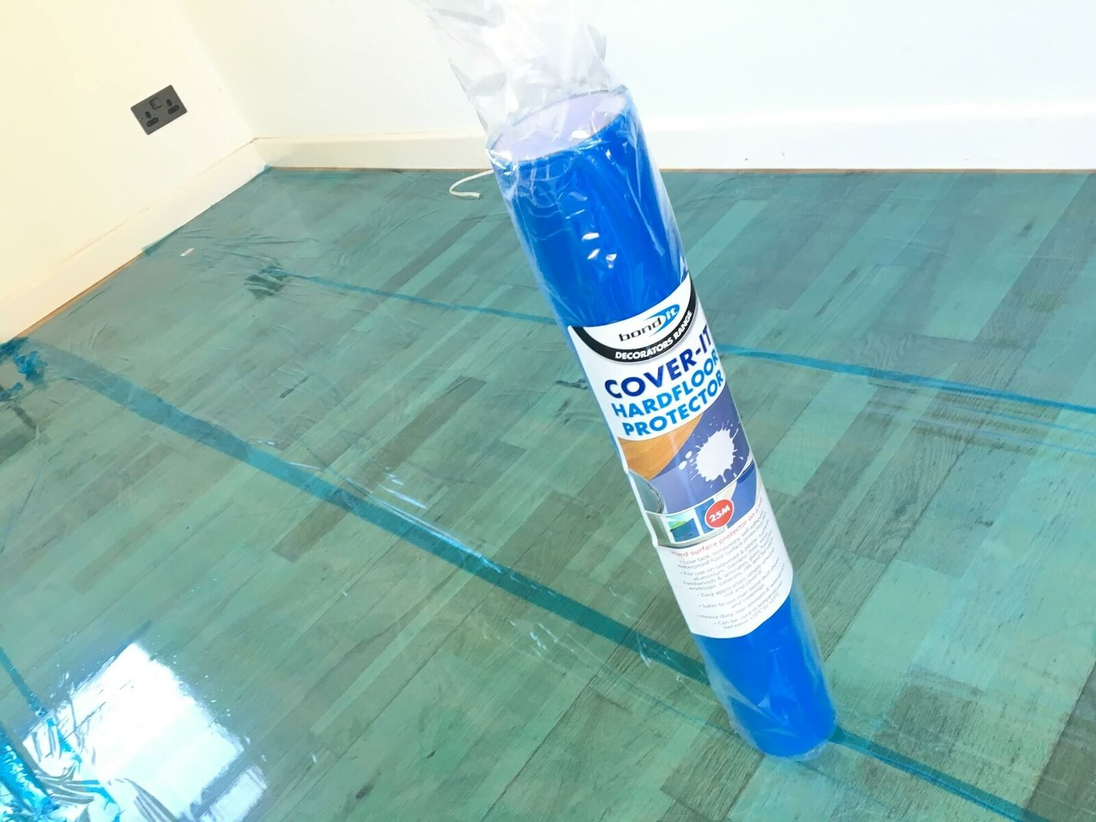 25m 50m 100m Painters Decorators Laminate Floor Tile Protector Sticky Back Roll