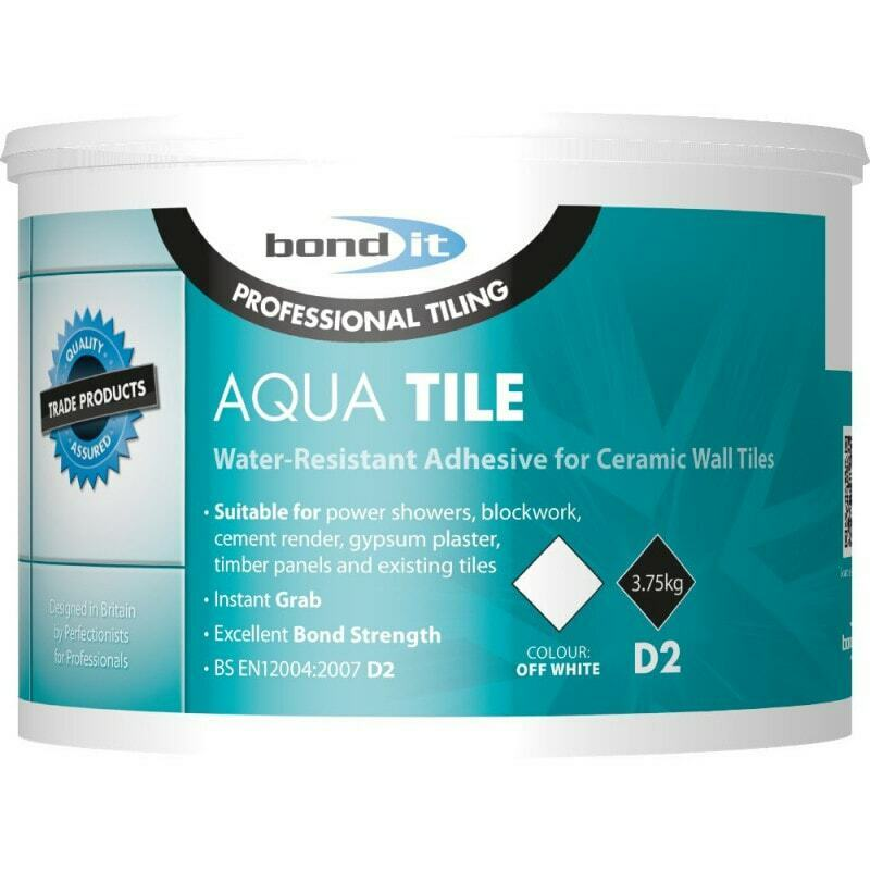 Bathroom On Suite Shower Tile Adhesive Water Resistant Ready Mixed Professional 3.75kg