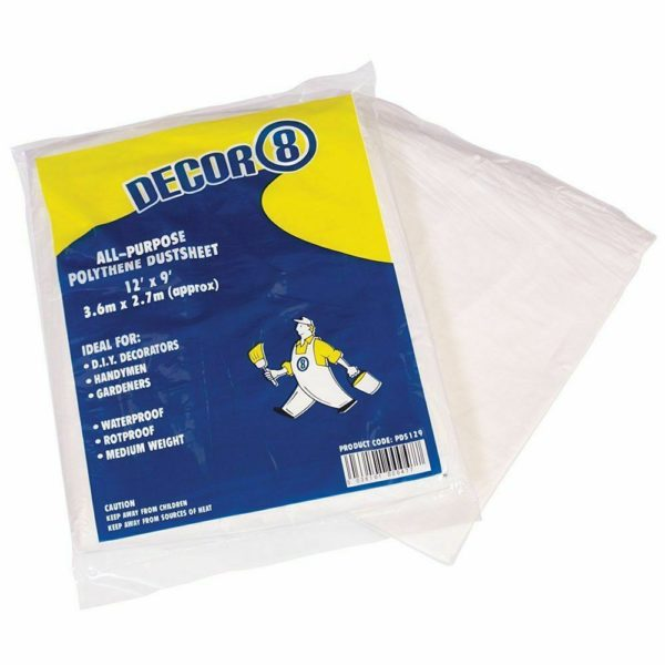Professional Plastic Polythene Dust Sheet 12'x9′ Painting Decorating Home DIY Carpet Floor
