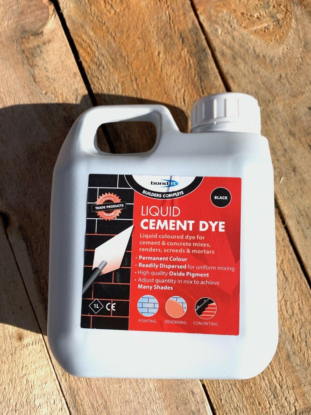 Black Cement Concrete Dye High Oxide Black Pigment Bricklayers DIY Trades Home