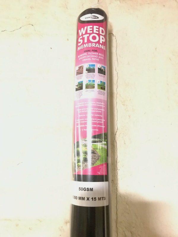 Weed Stop Barrier Membrane Blanket Border Plant Weed Prevention Fabric 1Meter x 15Meters
