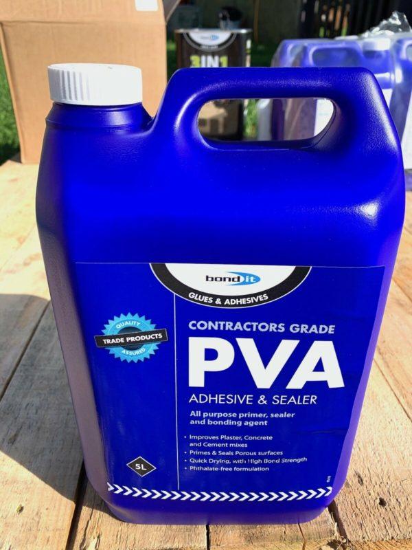 PVA Adhesive & Sealer 5L Professional Quality For Home Improvement DIY Trades